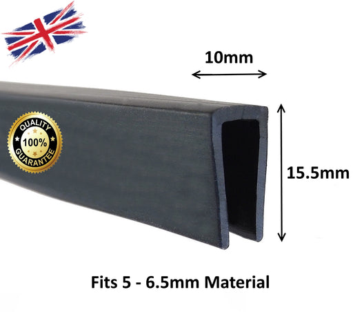 TSEC70-6 Black solid  EPDM Square Edge Trim - The Seal Extrusion Company LTD