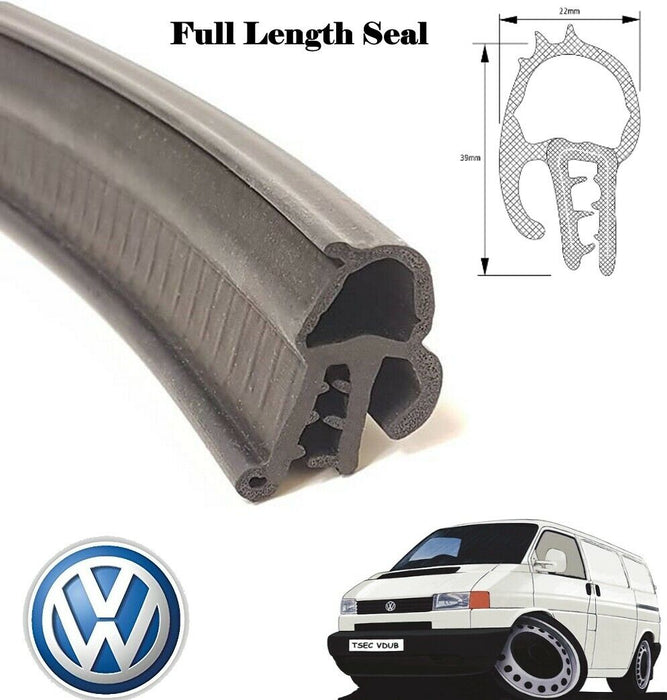 VW T5 TRANSPORTER TAILGATE AND BARN DOOR RUBBER BODY SEAL - The Seal Extrusion Company LTD
