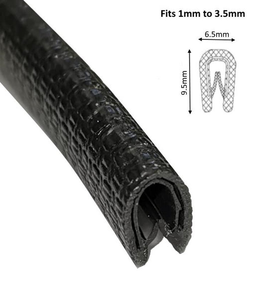 TSEC-2177 Small Black PVC Edge Trim ( Same as BRS2177 ) - The Seal Extrusion Company LTD