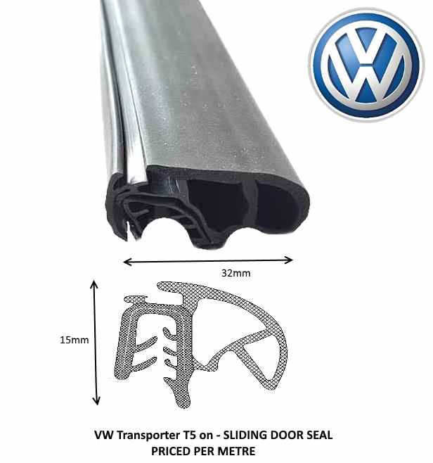 TSEC2416 VW T5 Sliding Door Seal Complete length - The Seal Extrusion Company LTD