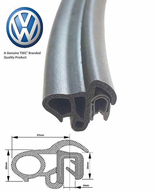 VW TRANSPORTER T4 1990 - 2004 Side Door Seal (Complete Length Seal) - The Seal Extrusion Company LTD