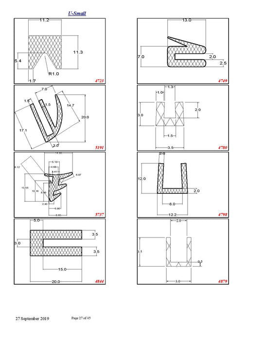 Silicone Rubber Extrusions - Available to Order