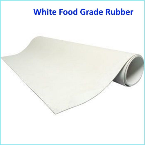 TSEC-FGR White Food Quality Rubber 1400mm x 10mtr Rolls - The Seal Extrusion Company LTD