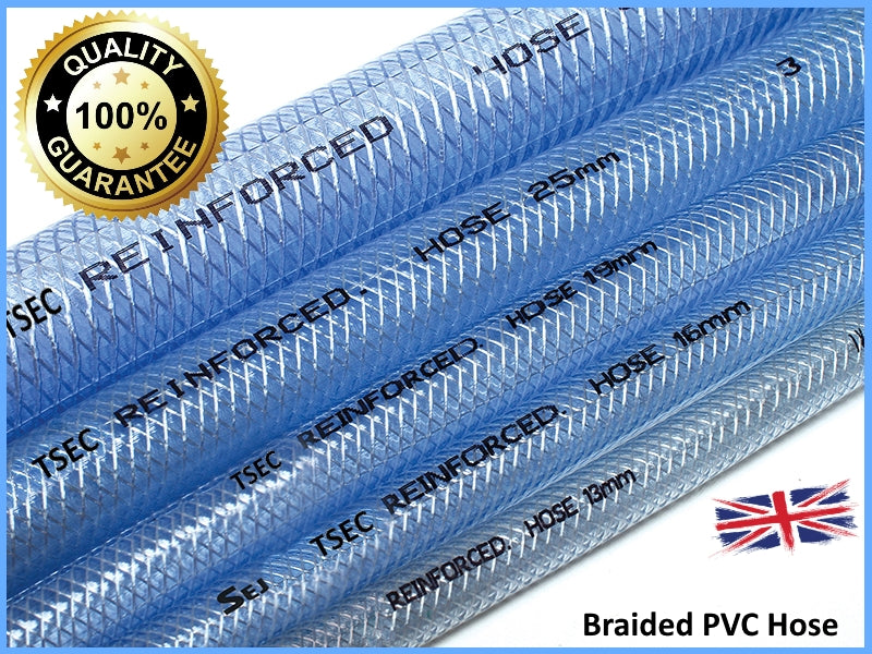 TSEC- Clear Braided PVC Hose 100mtr coils - The Seal Extrusion Company LTD