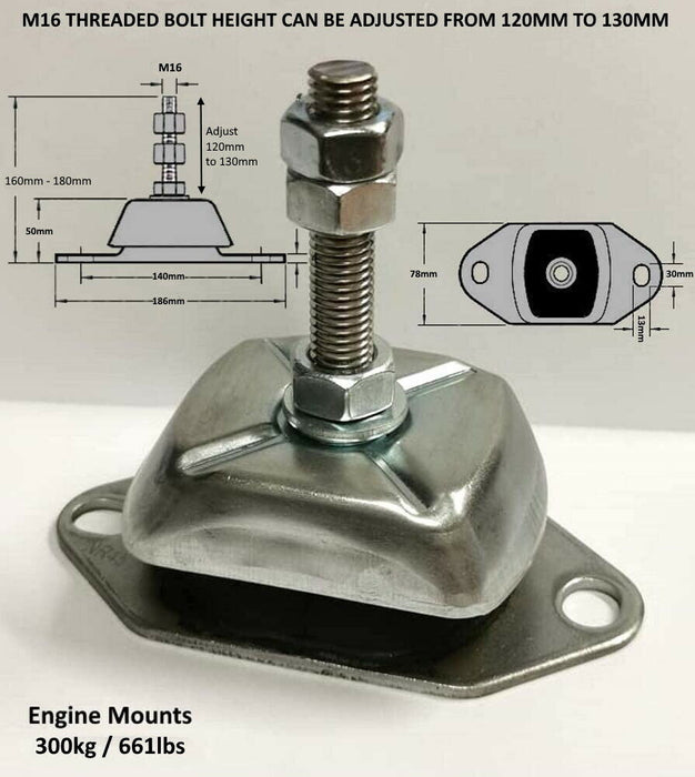 Marine Flexible Engine Mounts 55kg to 300kg