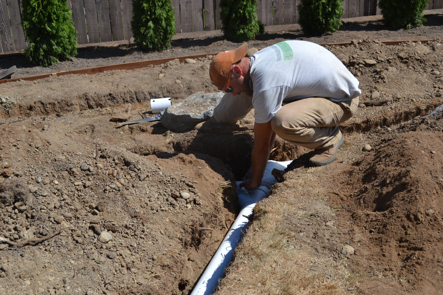 Landscape Drainage Construction in Lake Stevens