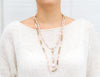 Willa- Variegated Pink Pearl Y-Necklace