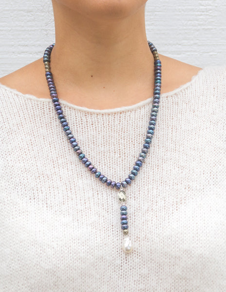 Pipa- Electric Blue Pearl Y-neck