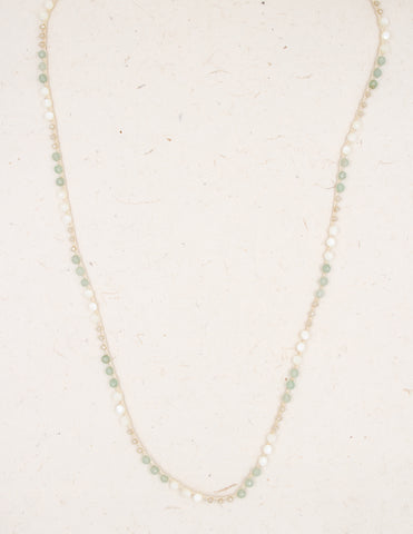 Bella - Aventurine & Mother of Pearl