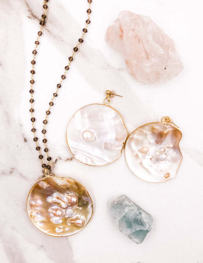 Catalina - Pearl Medallion Set