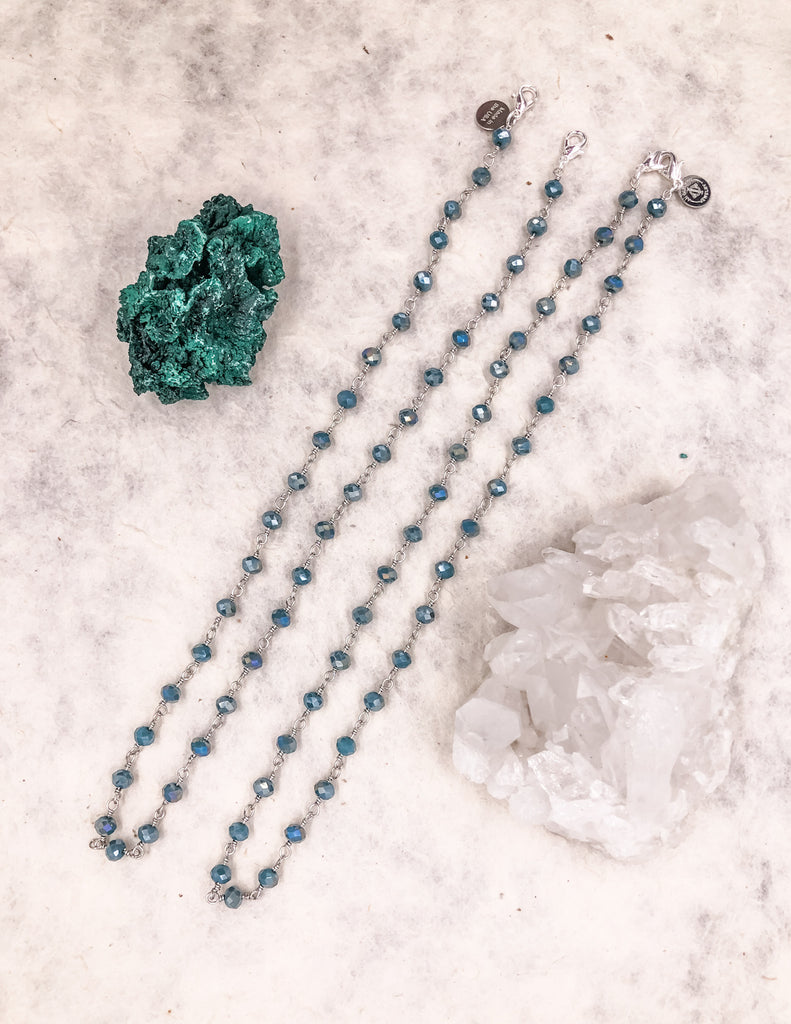 Mask Chain - Teal Green - Silver