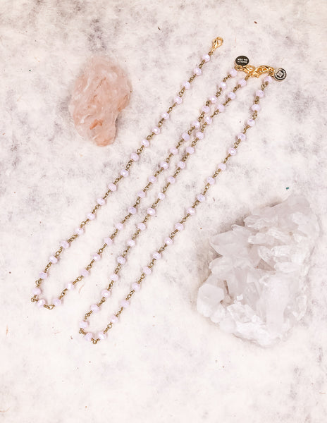 Mask Chain - Pink  - Gold