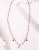 Sadie - Pink Crystal with Grey & Ruby Agate