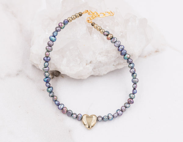 Summer - Peacock Pearl Anklet