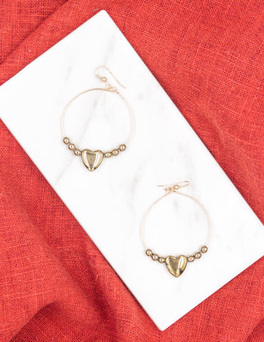 Lupercalia - Pyrite Hoop Earrings