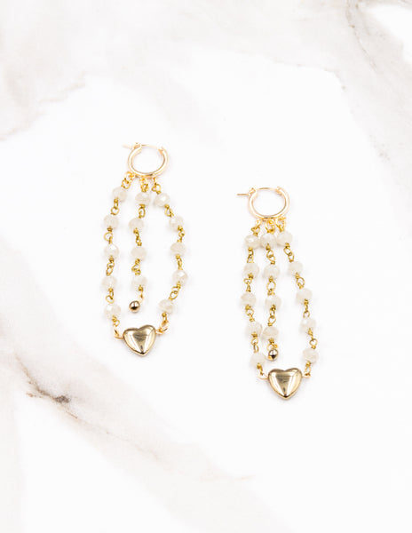 Amorette - Pearl Chain Earrings