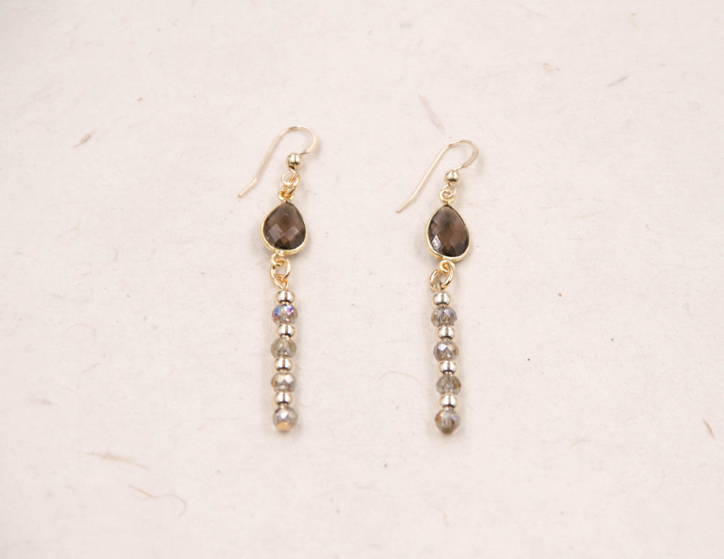 Polly - Golden Smoky Earrings