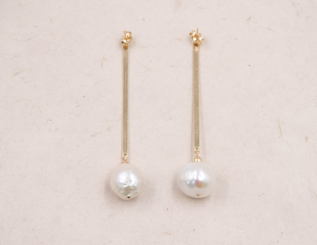 Theresa - Baroque Pearl Earrings