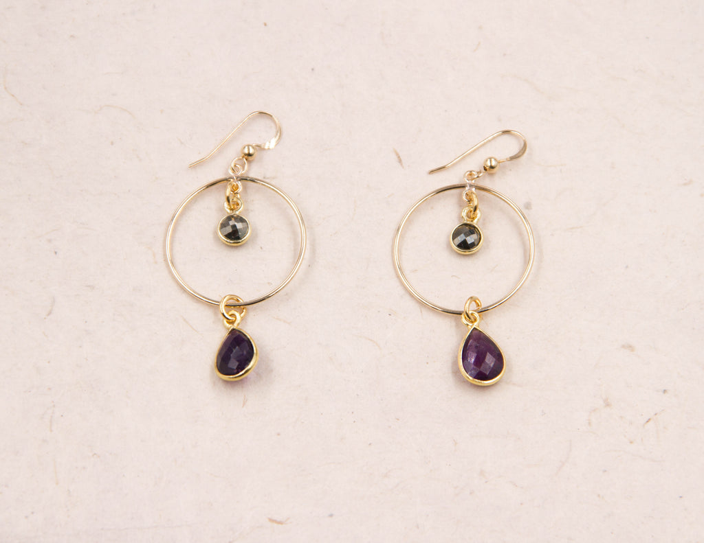 Sierra Madre earrings- Amethyst