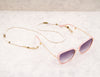 Eyeglass Chain - White Rice Pearl