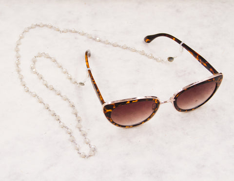Eye Glass Chain - Camel Beige
