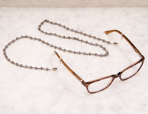Eye Glass Chain - Smoky Crystal