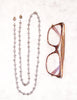 Eyeglass Chain - Smoky Crystal