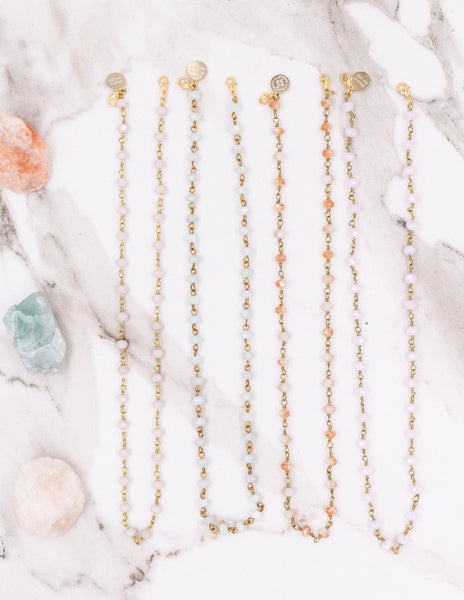 Mask Chains- Gold Soft Colors