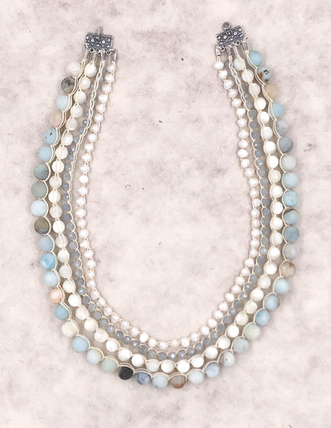 Persephone Amazonite Collar