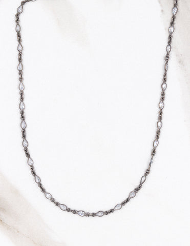 Bezel Chain Short Necklace