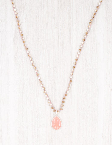 Addison- Peach and Gold with Rose Quartz