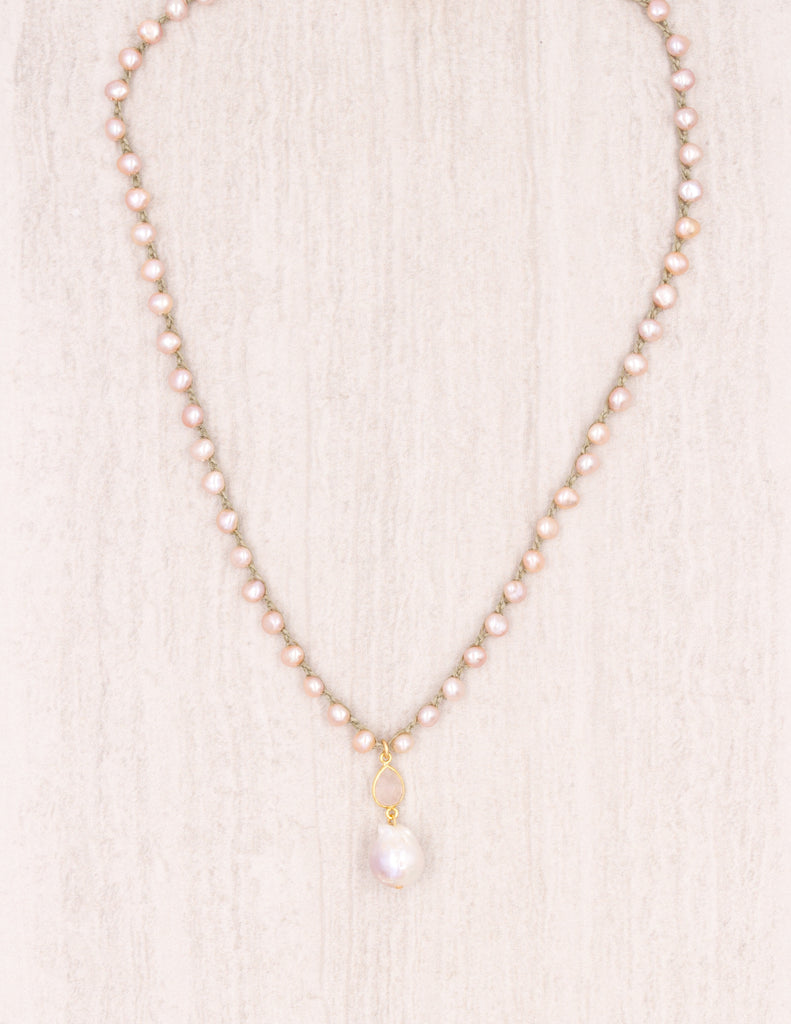 Luciana- Pink Pearl on Olive