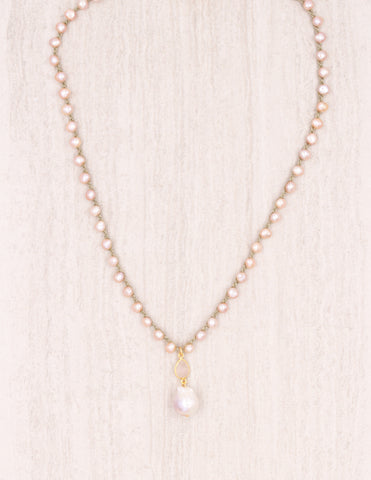 Luciana - Pink Pearl on Olive