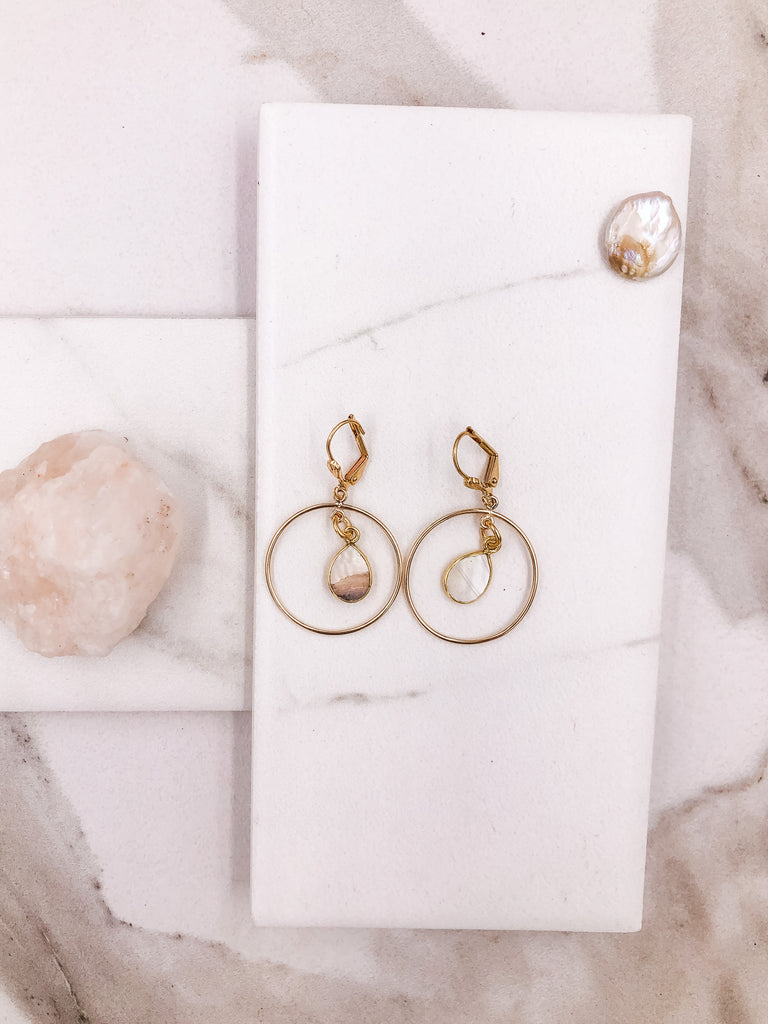 Petite Halo Hoops Earrings