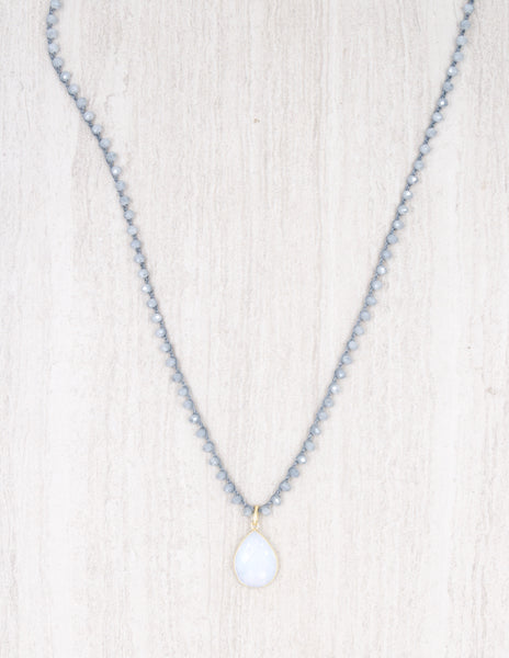 Addison- Dusty Blue with Opalite