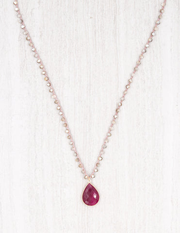 Addison- Gold with Ruby Agate