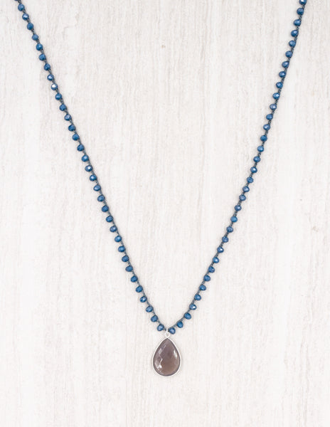 Addison- Steel Blue with Grey Agate