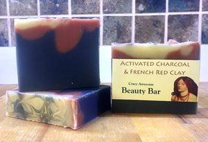 Dunedin Soap Company Activated Charcoal & French Red Clay Crazy Awesome Soap