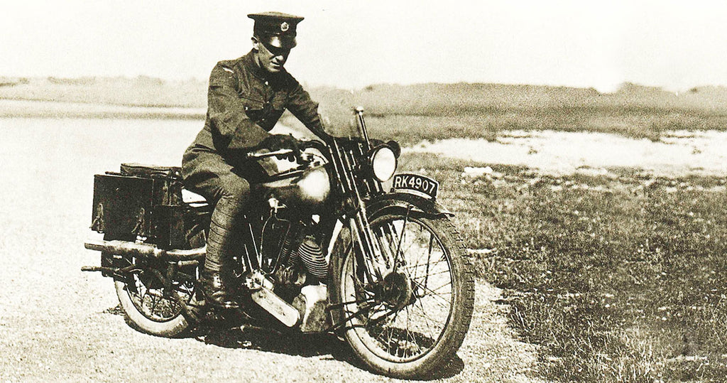 Lawrence riding his Brough Superior SS100