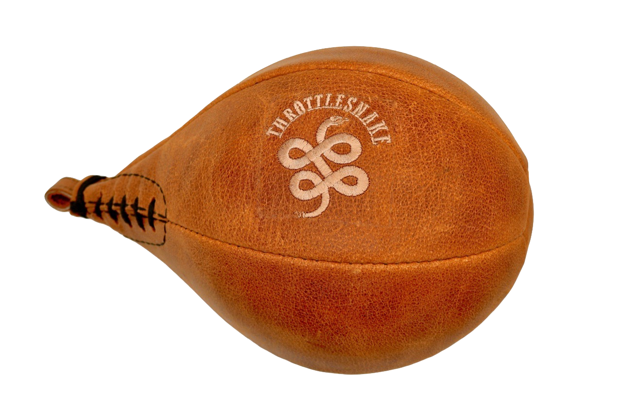 Embroidered Leather Speed Ball
