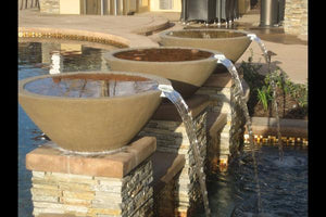 Wok with spout Water Features Concrete Creations