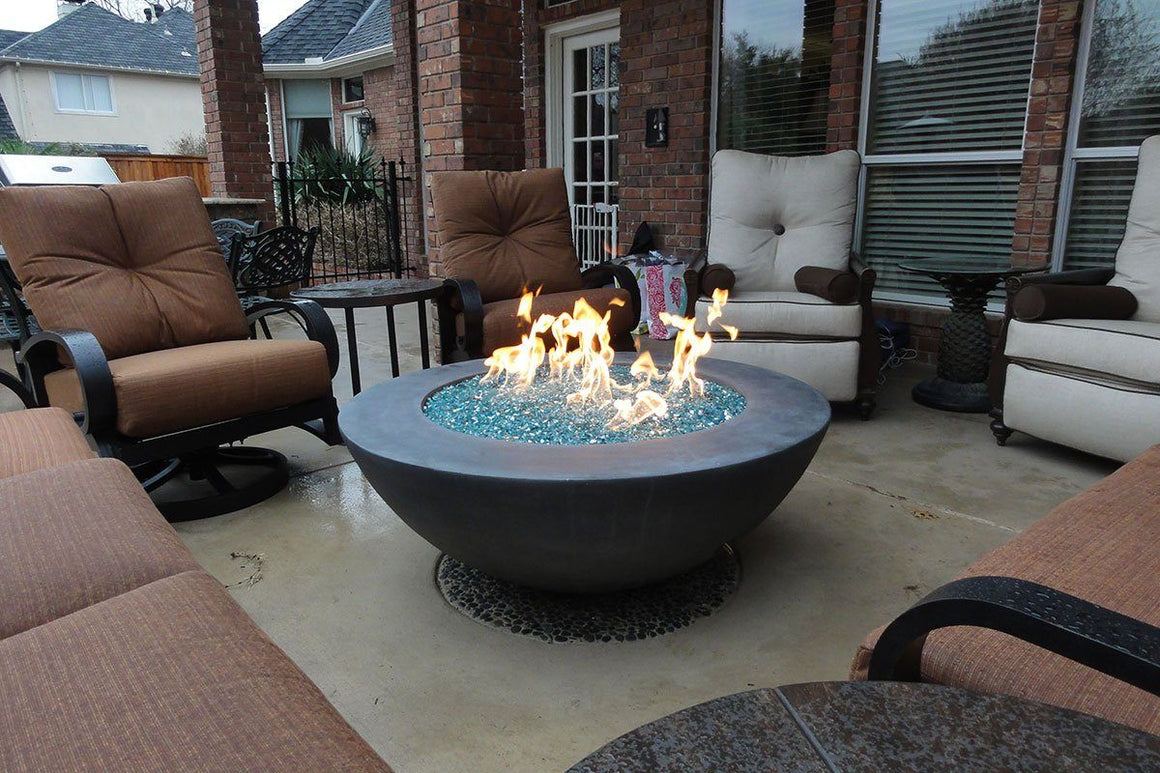 "Simplicity Edge Fire bowl 48"" x18"" -8"" lip Slate"