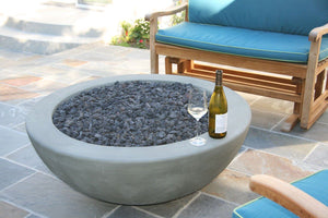 "Simplicity Edge 44"" x17"" -5"" lip Granite Green Color Fire Bowls / fire Pits Concrete Creations"