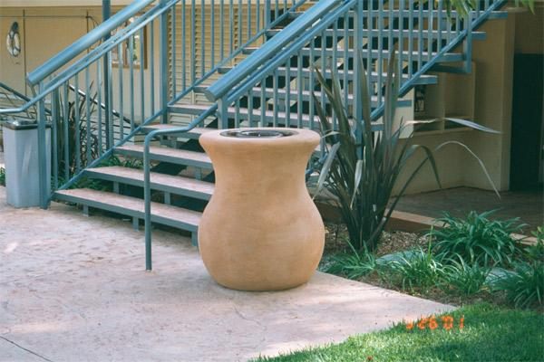 Camarillo Trash Rec. (pt-mc-t) Trash/Ash Receptacles Concrete Creations