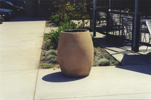 The Barrel Trash rec. Trash/Ash Receptacles Concrete Creations