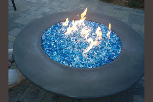 "Simplicity Edge Fire Bowl 54"" x18"" 10"" lip Slate Fire Bowls / fire Pits Concrete Creations"