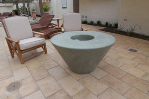 Cone Fire Table Fire Bowls / fire Pits Concrete Creations