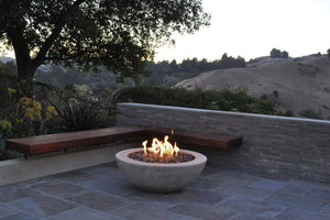 "Simplicity Edge Fire Bowl 40"" x15"" 5"" lip, Creamy Buff Fire Bowls / fire Pits Concrete Creations"