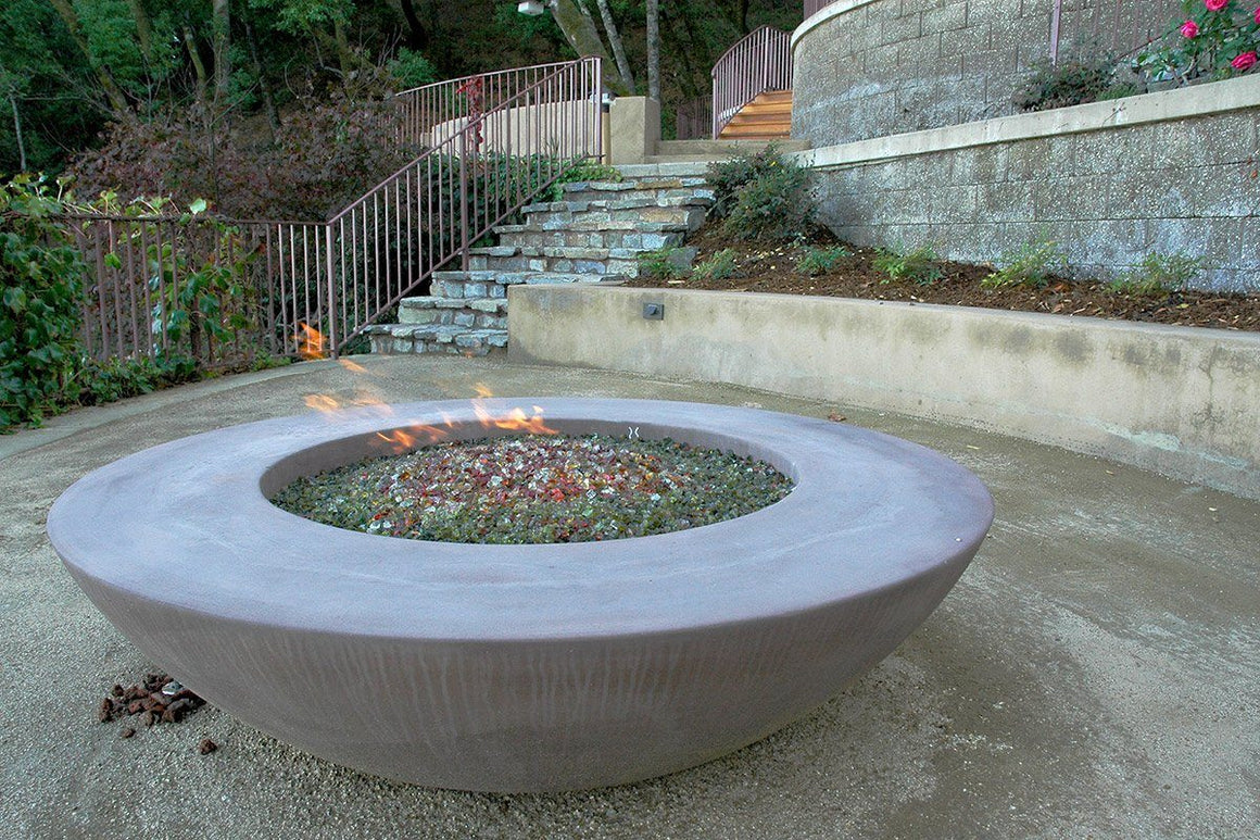 "Simplicity  Edge Fire Bowl 60"" x18"" 12"" lip, Coffee color"