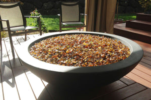 "Simplicity Fire Bowl 54"" x18"" Slate Color Fire Bowls / fire Pits Concrete Creations"